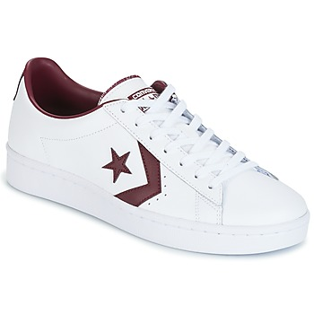 Shoes Men Low top trainers Converse PL 76 FOUNDATIONAL LEATHER WITH ELEVATED DETAILING OX WHITE/DEEP White / BORDEAUX