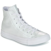 Shoes Women High top trainers Converse CHUCK TAYLOR ALL STAR IRIDESCENT LEATHER HI IRIDESCENT LEATHER H White