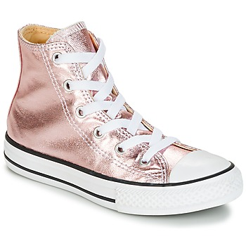 Shoes Girl High top trainers Converse CHUCK TAYLOR ALL STAR METALLIC SEASONAL HI METALLIC SEASONAL HI Pink / White / Black
