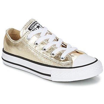 Shoes Girl Low top trainers Converse CHUCK TAYLOR ALL STAR Gold