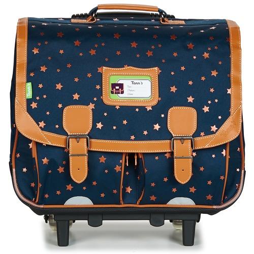 Bags Girl Rucksacks / Trolley bags Tann's ETOILE MARINE TROLLEY CARTABLE 41CM Marine