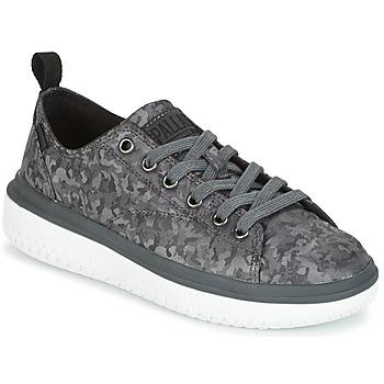 Shoes Women Low top trainers Palladium CRUSHION LACE CAMO Black / Grey