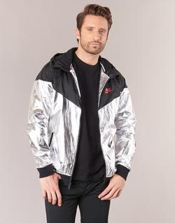 material Men Macs Nike WINDRUNNER METALLIC Black / Silver