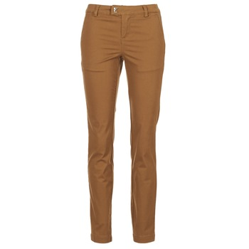 material Women 5-pocket trousers Les P'tites Bombes CHINAI COGNAC
