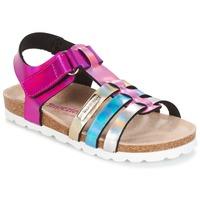 Shoes Girl Sandals Les Tropéziennes par M Belarbi POLINA Pink / Blue / Silver