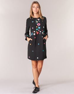 material Women Short Dresses Derhy BASTILLE Black