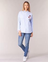 material Women slim jeans Pepe jeans GLADIS Ga7 / Blue / Clear