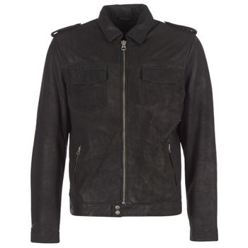 material Men Leather jackets / Imitation leather Pepe jeans NARCISO Black