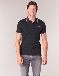 material Men short-sleeved polo shirts Jack & Jones WAZ ORIGINALS Black