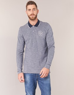 material Men long-sleeved polo shirts Jack & Jones CYMBAL ORIGINALS Grey
