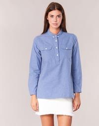 material Women Shirts Armor Lux GRICHA Blue