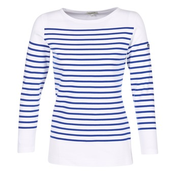 material Women Long sleeved shirts Armor Lux ROADY White / Blue