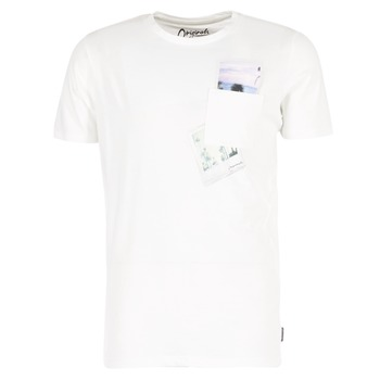 material Men short-sleeved t-shirts Jack & Jones CHECK ORIGINALS White