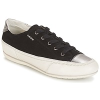 Shoes Women Low top trainers Geox D N.MOENA D - SCAM.STA+VIT.CER Black