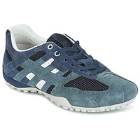 Shoes Women Low top trainers Geox U SNAKE K - SCAM.+MESH Blue
