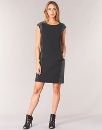 material Women Short Dresses Armani jeans LAMIC Black / Grey