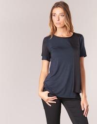 material Women short-sleeved t-shirts Armani jeans DRANIZ Marine / Black
