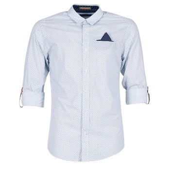 material Men long-sleeved shirts Scotch & Soda DARLU White / Blue