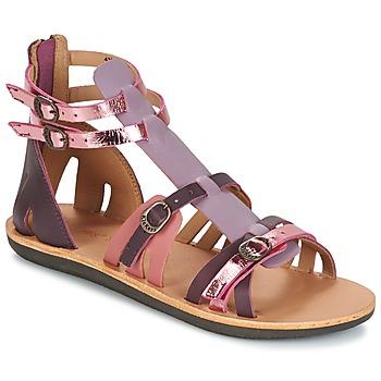Shoes Women Sandals Kickers SPARTIATEN Violet / Multicolour