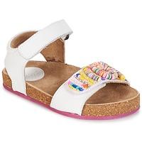 Shoes Girl Sandals Kickers NAISSA White
