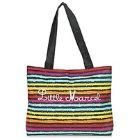 Bags Women Shopper bags Little Marcel MIRAGE Black / Multicoloured