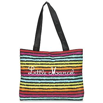 Bags Women Shopper bags Little Marcel MIRAGE Black / Multicoloured