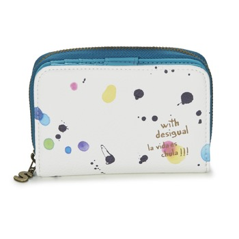 Bags Women Wallets Desigual MAGNETIC NEW SPLATTER White / Multicoloured