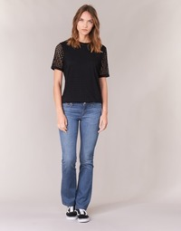 material Women bootcut jeans Yurban HEKIKKOU BOOTCUT Blue / Medium