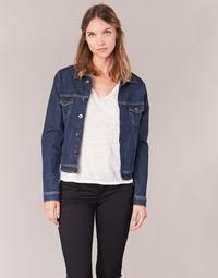 material Women Denim jackets Yurban HELEFI Blue / Medium