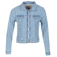 material Women Denim jackets Yurban HELEFI Blue / Clear