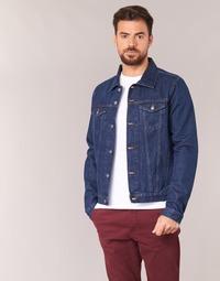 material Men Denim jackets Yurban HEDEM Blue / Raw