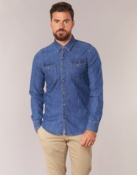material Men long-sleeved shirts Yurban IHERZI Blue / Medium