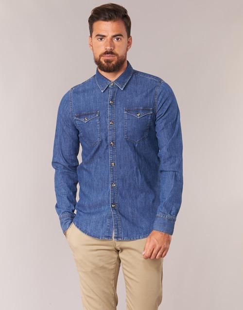 material Men long-sleeved shirts Casual Attitude IHERZI Blue / Medium
