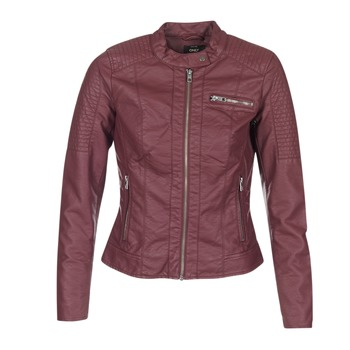 material Women Leather jackets / Imitation leather Only READY BORDEAUX