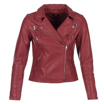 material Women Leather jackets / Imitation leather Only MADDY Red