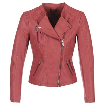 material Women Leather jackets / Imitation leather Only AVA Red