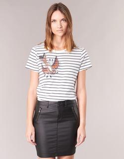material Women short-sleeved t-shirts Only KIRA White