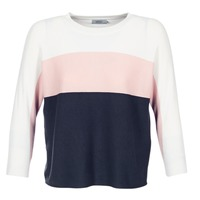 material Women jumpers Only REGITZE White / Pink / MARINE