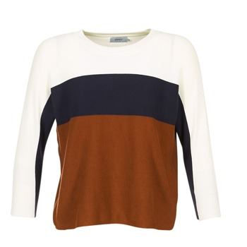 material Women jumpers Only REGITZE White / MARINE / Brown