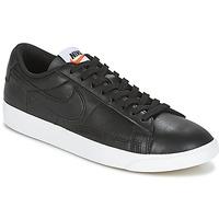 Shoes Women Low top trainers Nike BLAZER LOW LEATHER W Black
