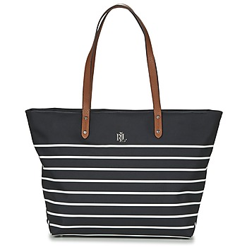 Bags Women Shopper bags Ralph Lauren BAINBRIDGE TOTE Black / White