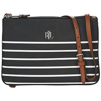 Bags Women Shoulder bags Lauren Ralph Lauren BIANBRIDGE TARA Black / White