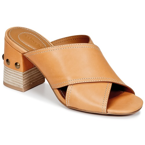 Discount on sale See by Chlo SB30083 Camel Shoes Mules Women Euro 36 37 38 39 40