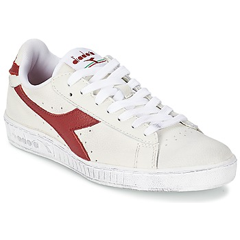 Shoes Low top trainers Diadora GAME L LOW WAXED White / Red