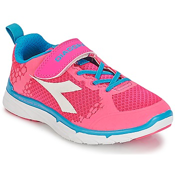Shoes Girl Low top trainers Diadora NJ-303-1 JR Pink
