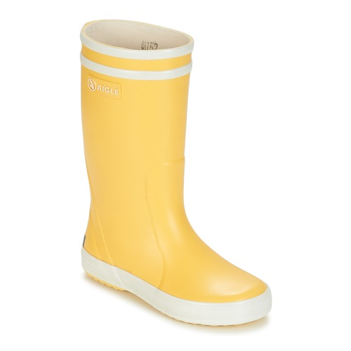 Shoes Children Wellington boots Aigle LOLLY POP Yellow / White