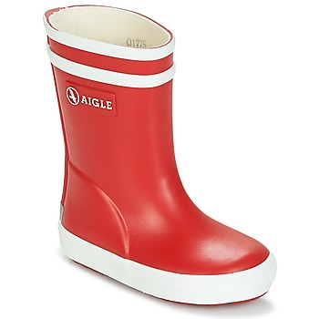 Shoes Children Wellington boots Aigle BABY FLAC Red / White