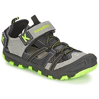 Shoes Boy Sandals Kangaroos KANGASPEED 2068 Black / Green