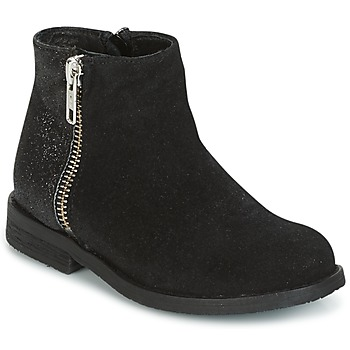Shoes Girl Mid boots Young Elegant People FABIOLAD Black