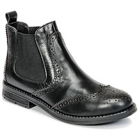 Shoes Girl Mid boots Young Elegant People JOSEPHI Black